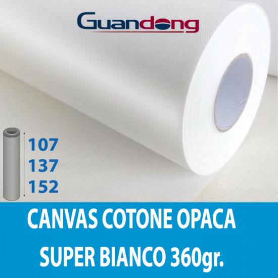 Art Canvas Cotone Super Bianco opaca
