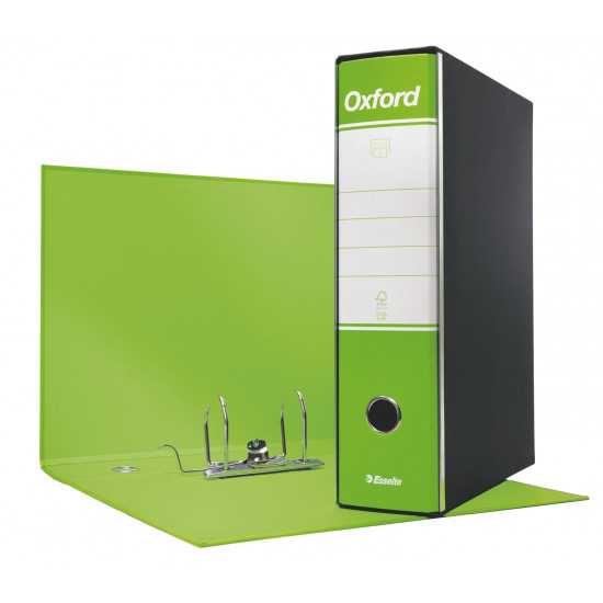 REGISTRATORE OXFORD Protocollo Lime cm. 8