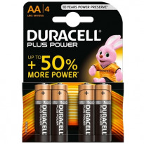 BLISTER 4 PILE DURACELL PLUS AA - STILO