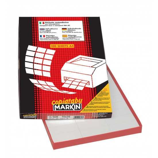 ETICHETTE MARKIN C/509 100 fogli A4 (2et/fg)