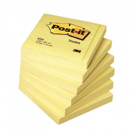 POST-IT 654 GIALLO CANARY mm. 76x76 100fg.