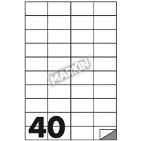 ETICHETTE MARKIN C/519 100 fogli A4 (4et/fg)