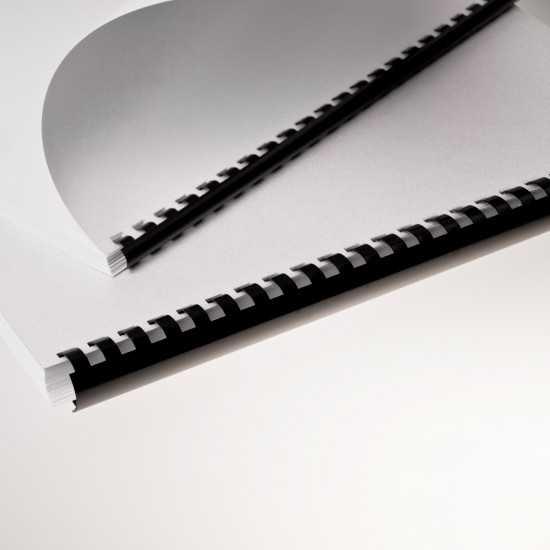 Dorsi plastici per rilegatura a 21 anelli nero