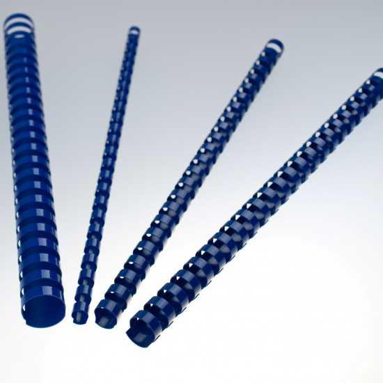 Dorsi plastici a 21 anelli - colore blu