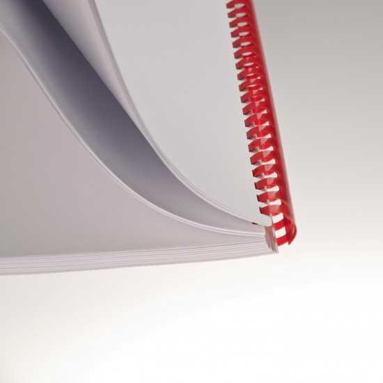 Dorsi plastici a 21 anelli - colore rosso