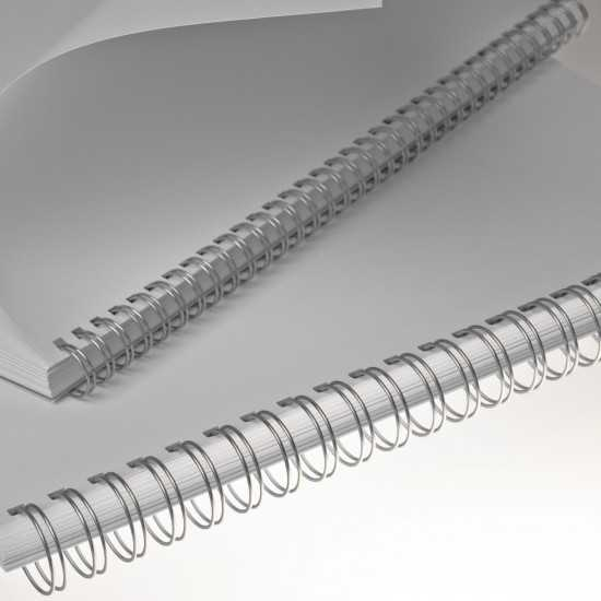 Renz Dorsi metallici A4 34 anelli passo 3:1 - colore silver