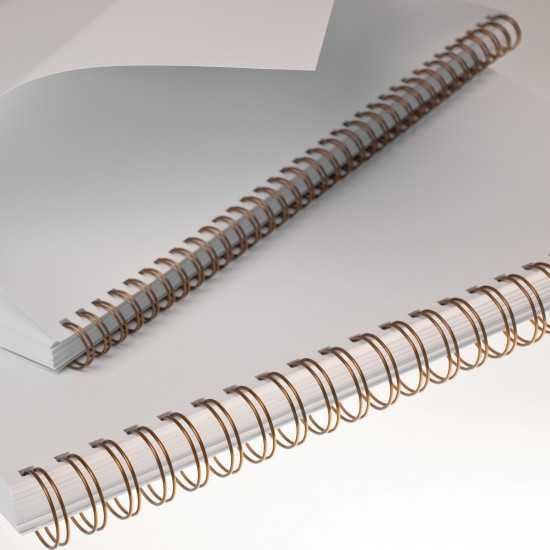 Spirali metalliche Renz A4 34 anelli passo 3:1 - colore Bronzo