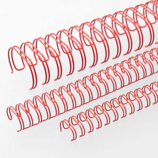 Spirali metalliche Renz A4 34 anelli passo 3:1 - colore Rosso