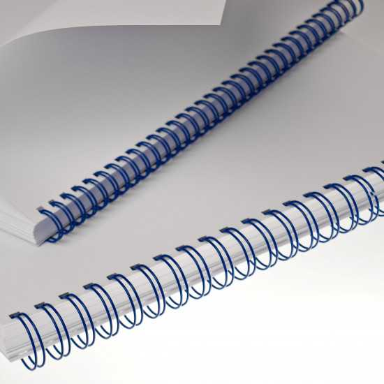 Spirali metalliche Renz A4 34 anelli passo 3:1 - colore Blu