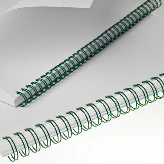 Renz Dorsi metallici 34 anelli passo 3:1 - colore verde
