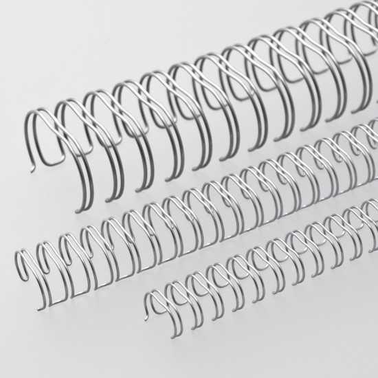 Renz Dorsi metallici A4 23 anelli passo 2:1 - colore silver