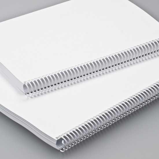 Spirali Coil passo 4:1 - colore bianco
