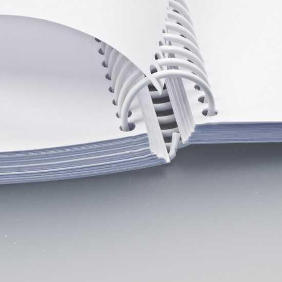 Spirali Coil passo 4:1 - colore silver