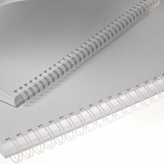 Renz Dorsi metallici A5 24 anelli passo 3:1 - colore bianco
