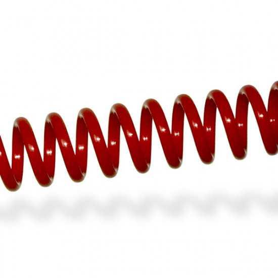 Spirali Coil passo 4:1 - colore rosso